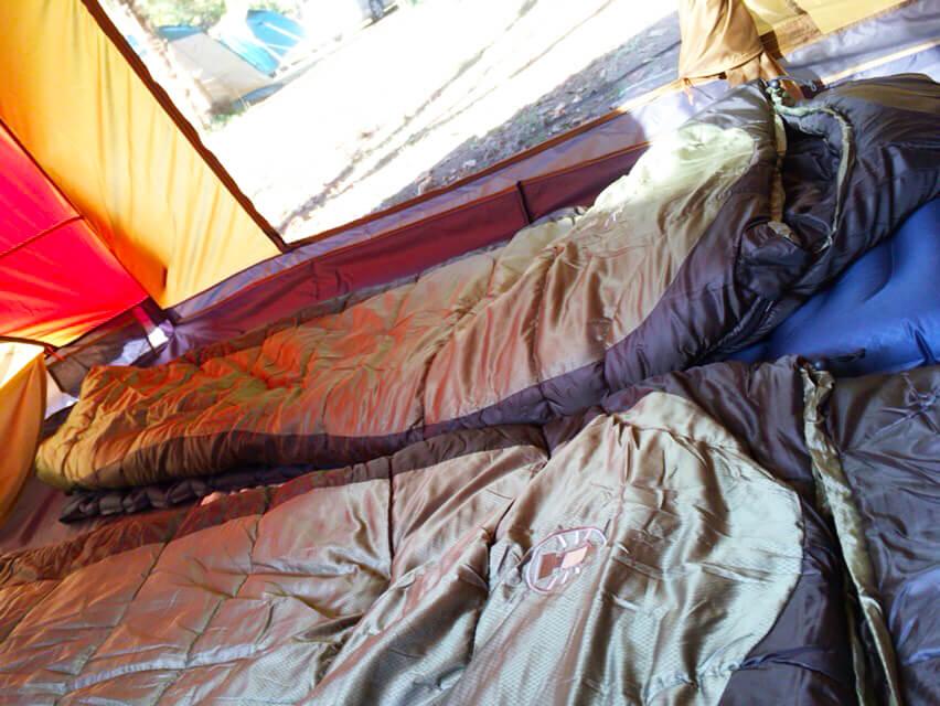 キャンプ用品 寝袋