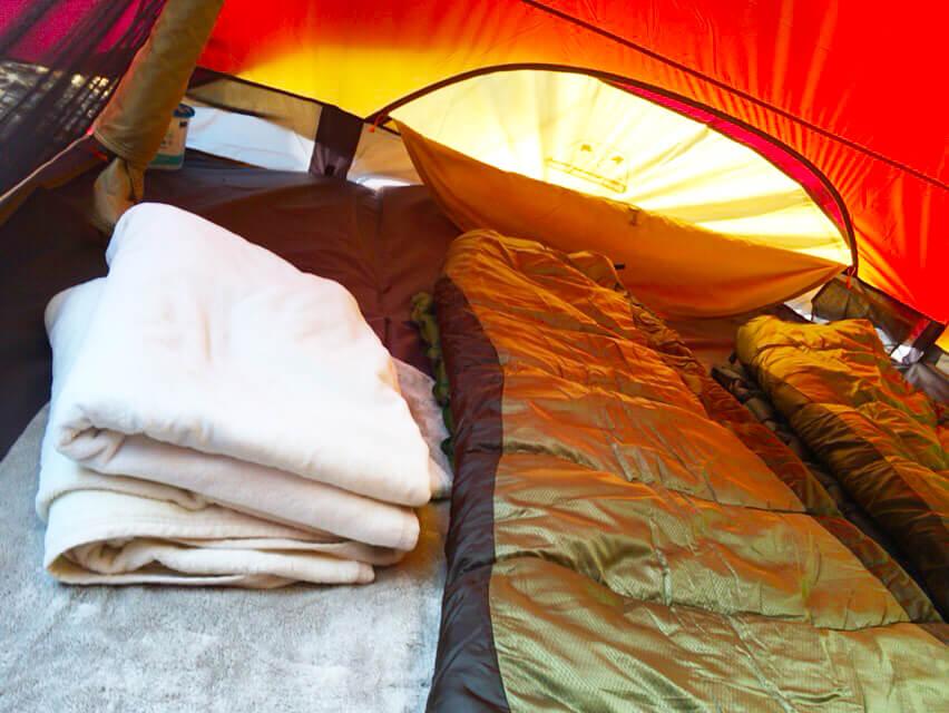 冬キャンプ 寝具