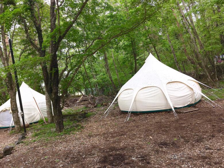 レイクロッジヤマナカ テント