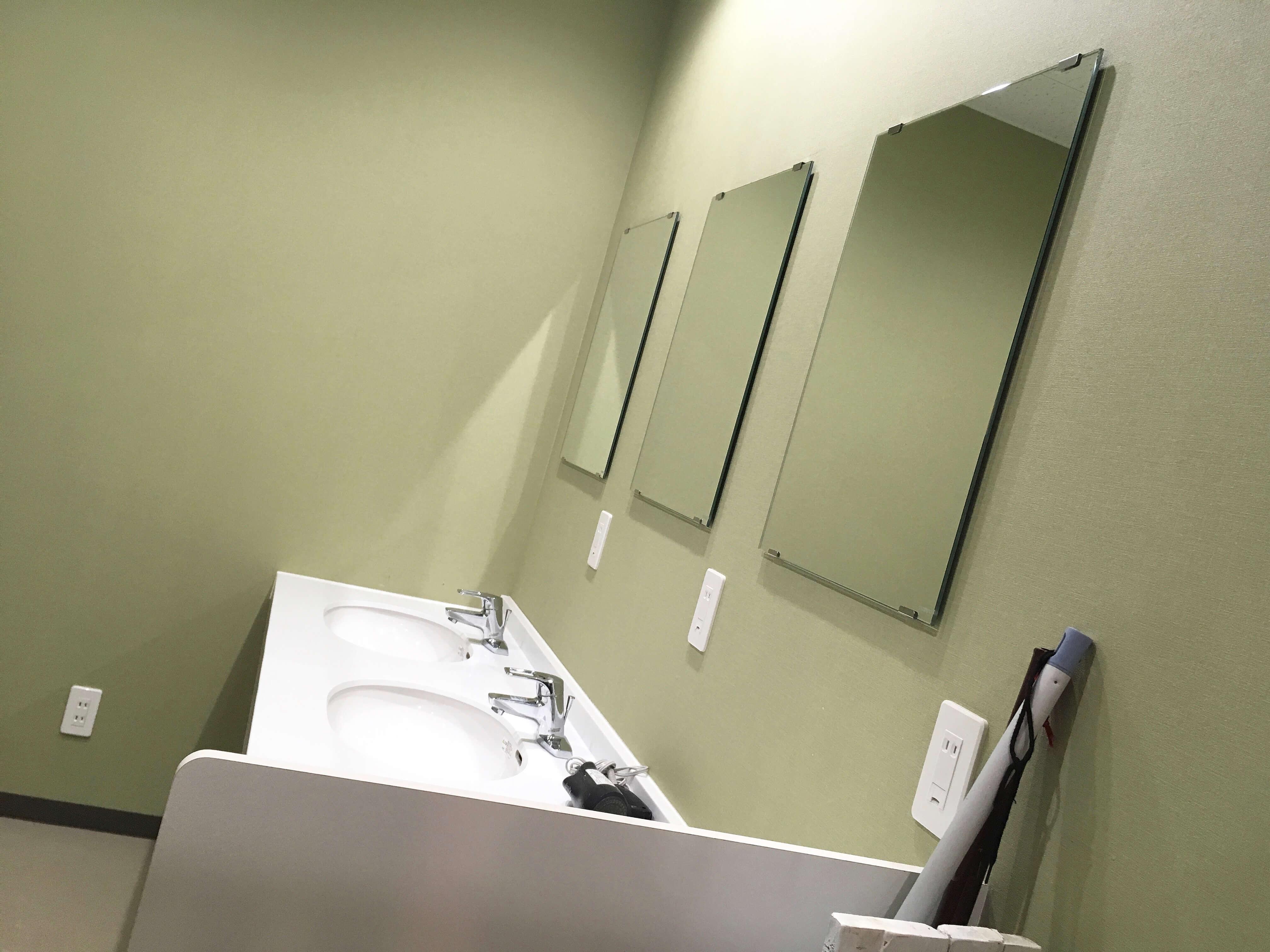 レイクロッジヤマナカ シャワー 洗面台